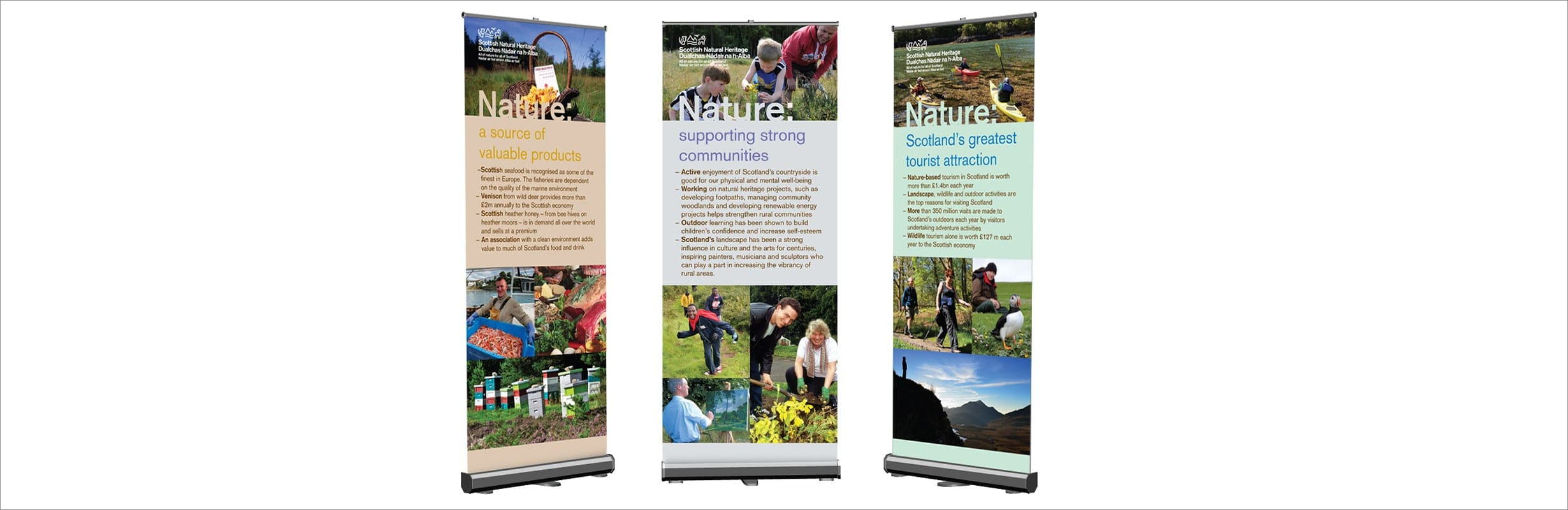 Outdoor Banner Design for Scottish Natural Heritage.